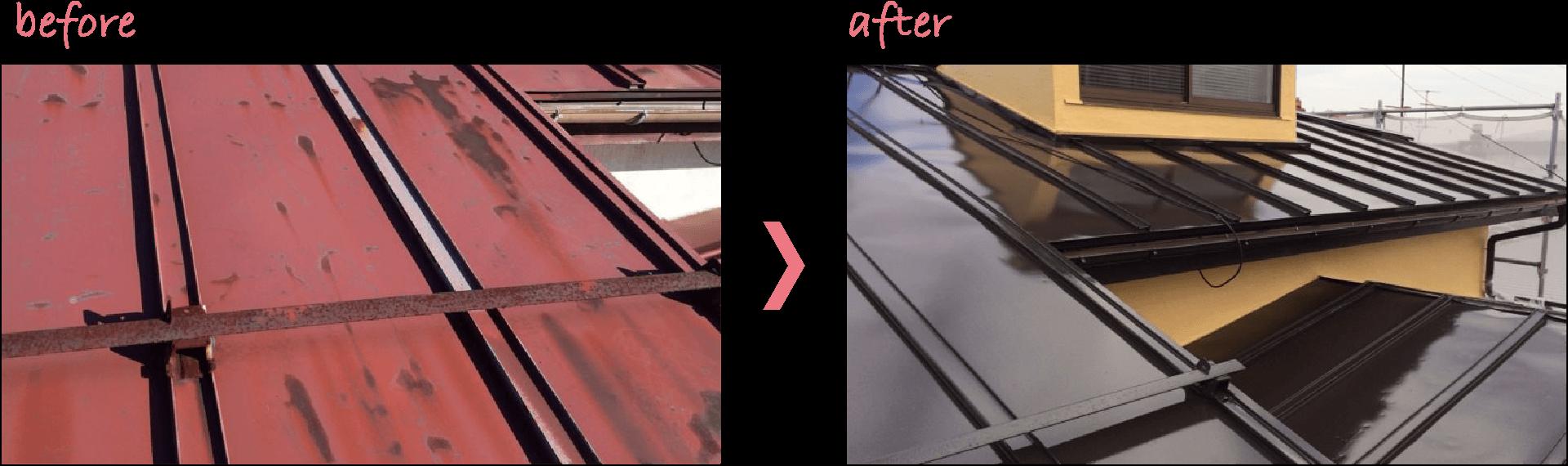 屋根の塗装事例3